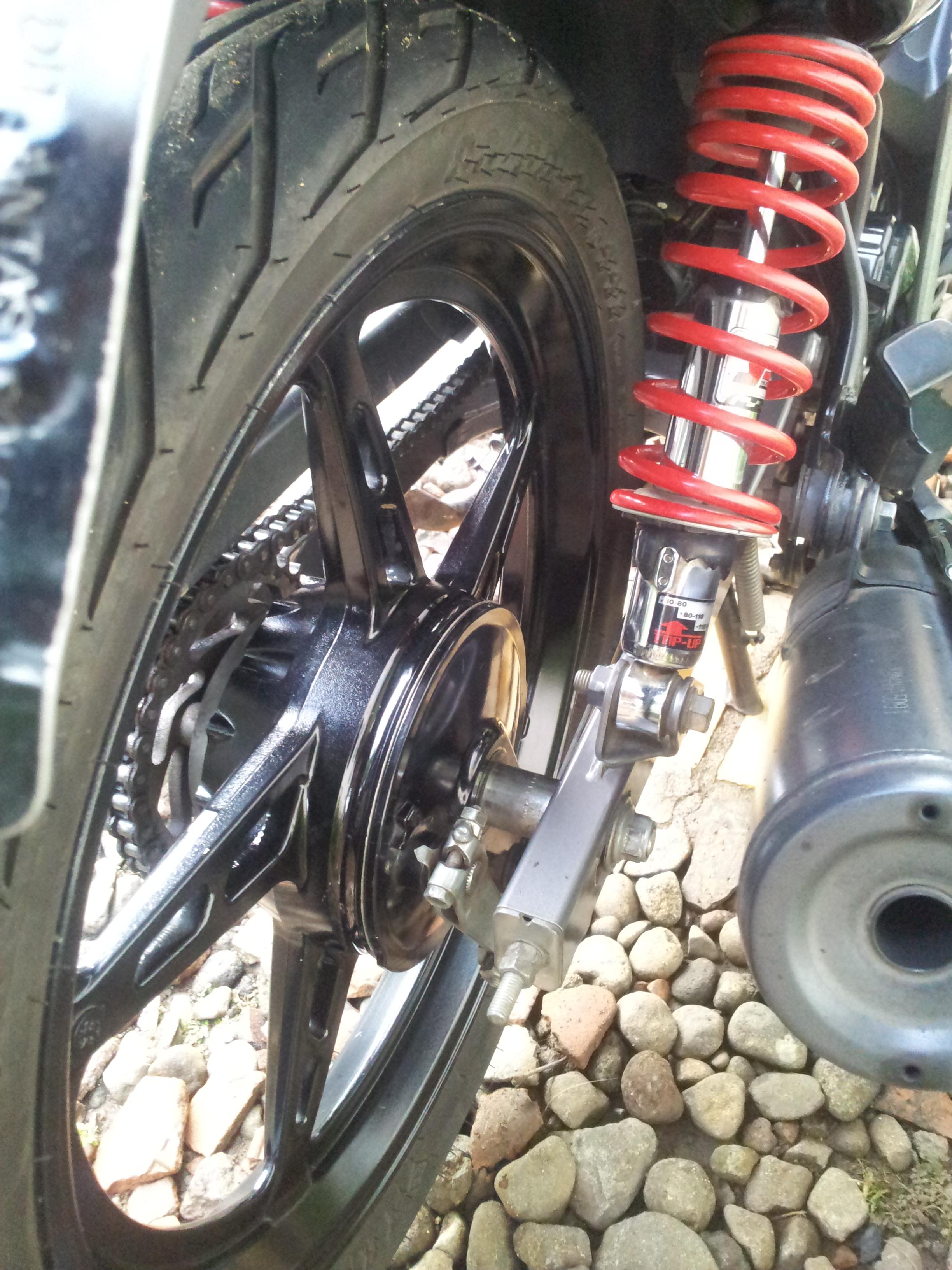 Ganti Swing Arm Vega ZR Dengan Swing Arm Jupiter Z1 Depmoto Blog